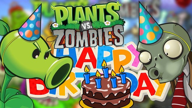 Plants Vs Zombies Birthday Cake Happy Birthday Plants Vs Zombies Die Ersten Level Einer