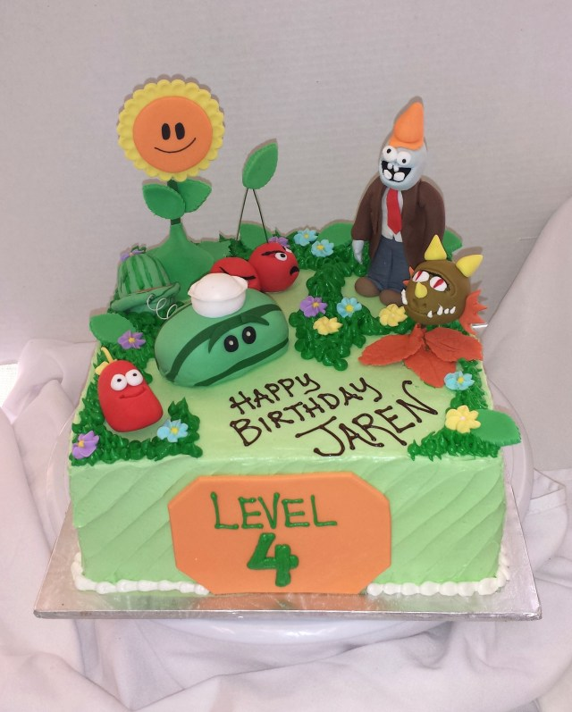 Plants Vs Zombies Birthday Cake Plants Vs Zombies Birthday Cake