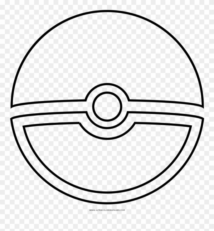 Inspired Image of Pokeball Coloring Pages