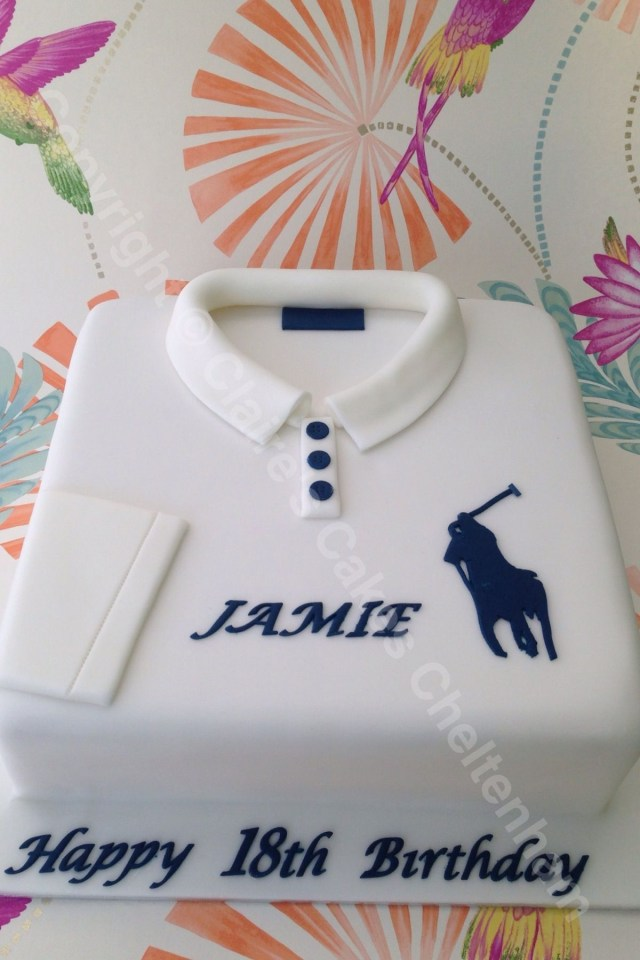 Polo Birthday Cake Ralph Lauren Shirt Themed Birthday Cake Polo Pinterest Cake