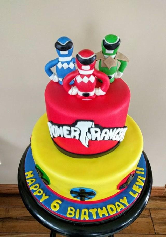 Power Rangers Birthday Cake Power Ranger Birthday Cakes Pinterest Power Ranger Birthday