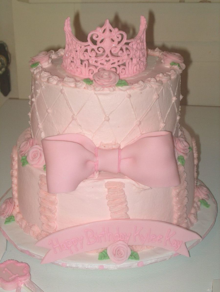 Princess 1St Birthday Cake Princess 1st Birthday Cake Cakecentral