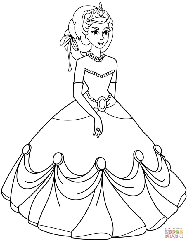 Princess Coloring Page Princess Coloring Pages Free Coloring Pages