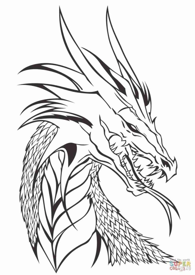 Printable Dragon Coloring Pages Dragon Coloring Sheets Realistic Fattkay Stirring Pages Water Free