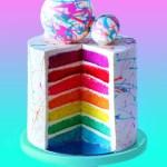 Rainbow Birthday Cake 7 Layer Rainbow Cake Recipe Tastemade