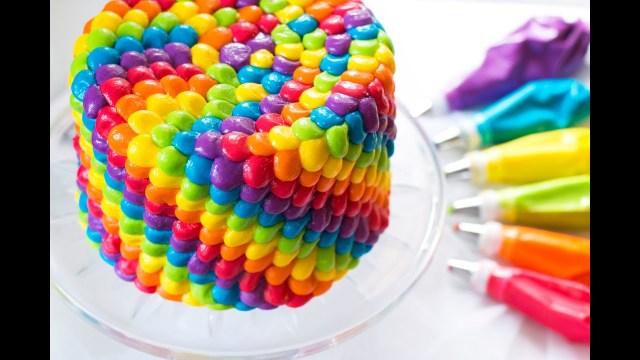 Rainbow Birthday Cake Rainbow Birthday Cake Youtube