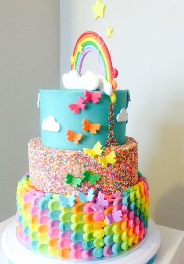 Rainbow Dash Birthday Cake Rainbow Cake Back Of My Little Pony Rainbow Dash Cake The