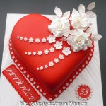 Red Birthday Cake Birthday Cake Photos Cakes Sheetcakes Layers Pinterest