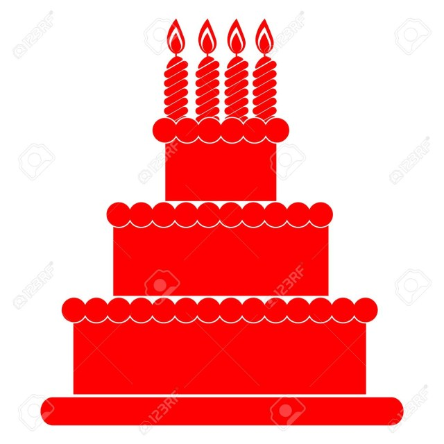 Red Birthday Cake Birthday Cake Red Icon Royalty Free Cliparts Vectors And Stock