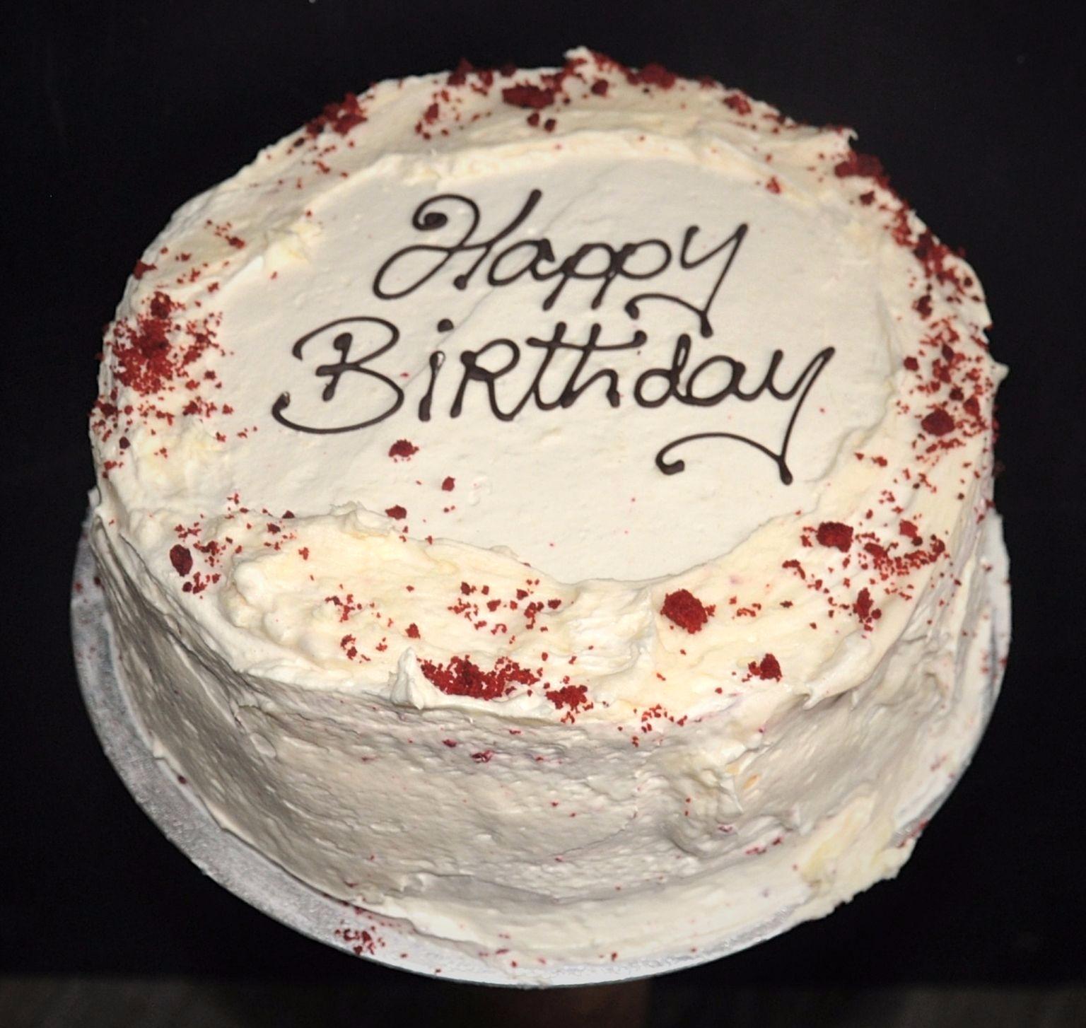 Red Birthday Cake Red Velvet Mannings Bakery