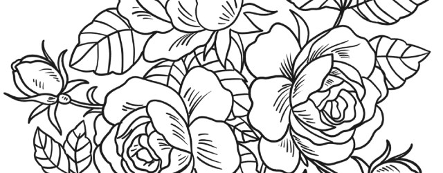 Rose Coloring Pages Roses Coloring Pages Free Coloring Pages