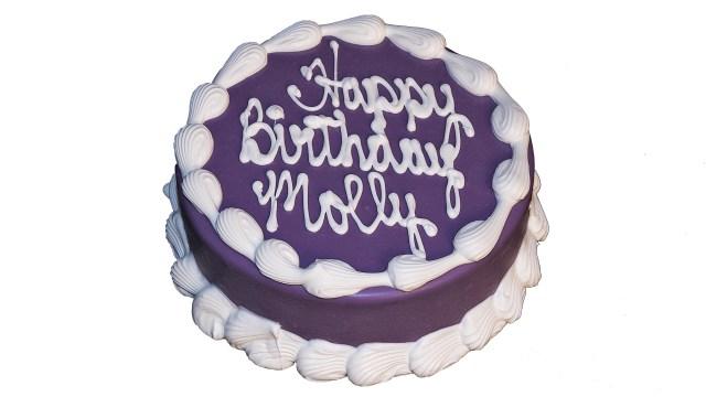 Round Birthday Cakes Barkery 6 Round Purple Cake The Barkery Birthday Cakes For Dogs