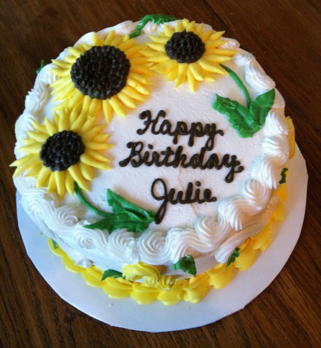 Round Birthday Cakes Sunflower Cake For Julie My Cake Creations Cake Sunflower