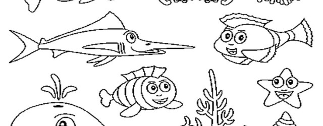 Sea Creatures Coloring Pages Free Printable Ocean Coloring Pages For Kids