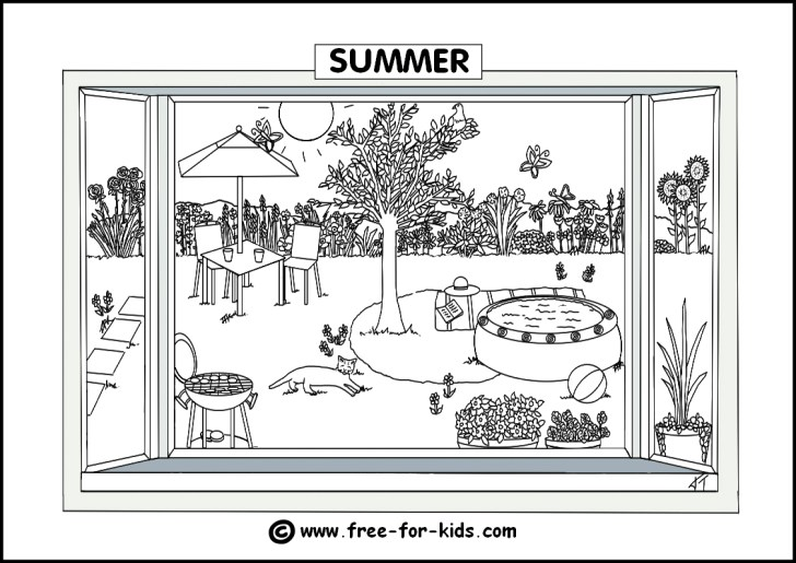 27+ Excellent Photo of Seasons Coloring Pages