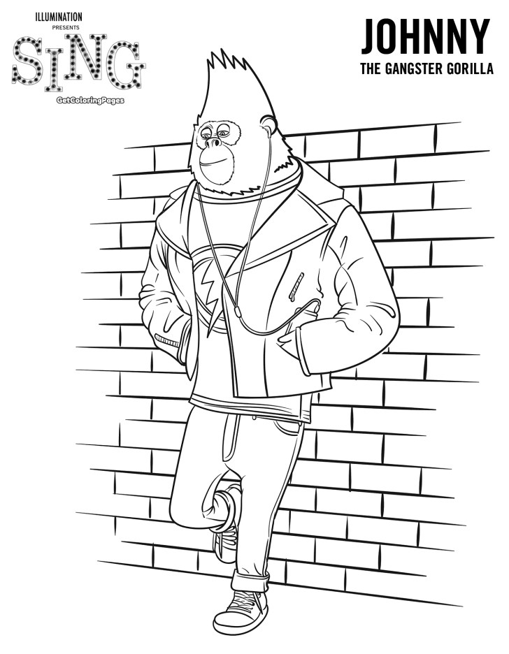 Creative Image of Sing Movie Coloring Pages