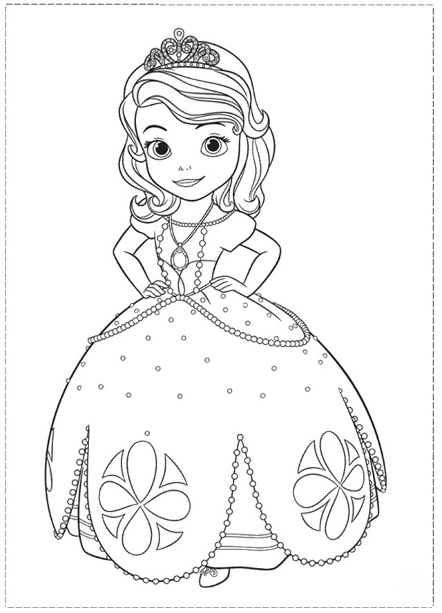Sofia The First Coloring Page Sofia The First Drawing At Getdrawings Free For Personal Use