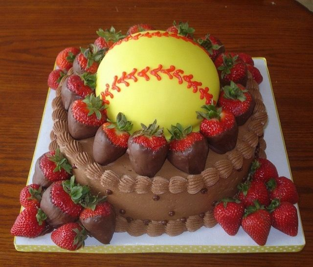 Softball Birthday Cakes Enjoyable Softball Birthday Cakes Baseball Cakecentral Com Cakes Ideas