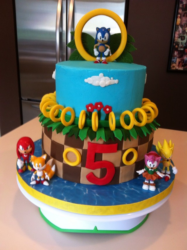 Sonic Birthday Cake Josh Wants A Sonic The Hedgehog Cake Suzanne Grimes Party Ideas