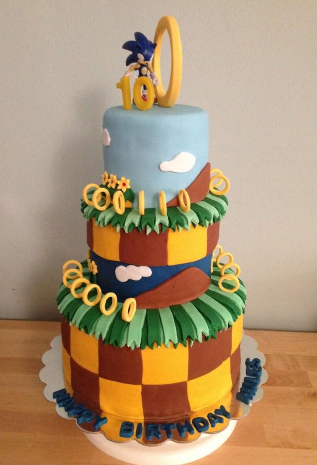 Sonic Birthday Cake Sonic Birthday Cakes