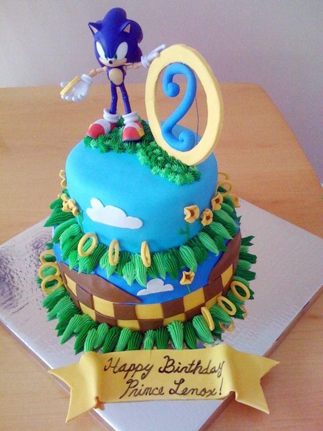 Sonic Birthday Cake Sonic Cake Easy Video Tutorial Sugar Geek Show