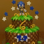 Sonic Birthday Cake Sonic Cake Made Angies Kitchen Rexs Birthday Party