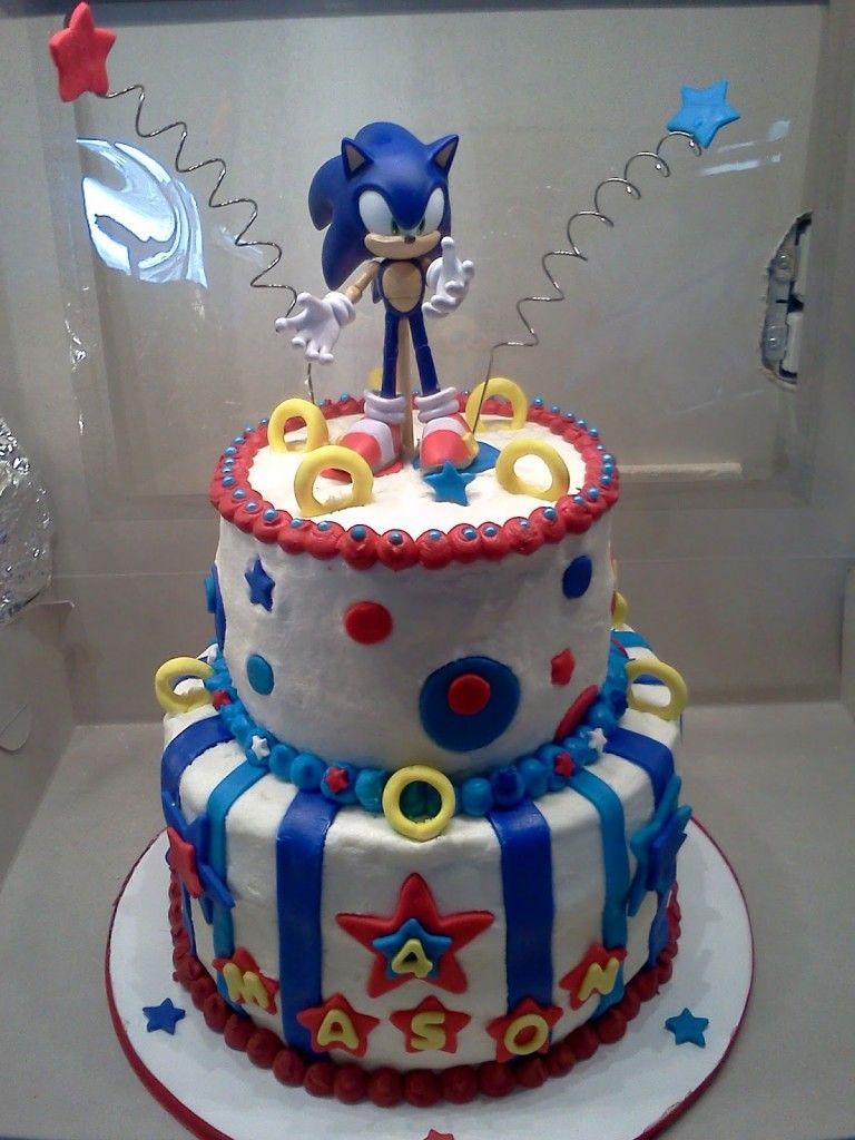 Sonic Birthday Cake Sonic Cakes Klnleges Tortk Pinterest Sonic Birthday Sonic