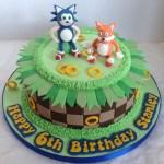 Sonic Birthday Cake Sonic Tails Birthday Cake Liz Flickr