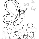 Spring Flowers Coloring Pages Spring Flowers Coloring Pages For Preschoolers Printable