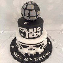 Star Wars Birthday Cakes 3 Tier Star Wars Theme Cake