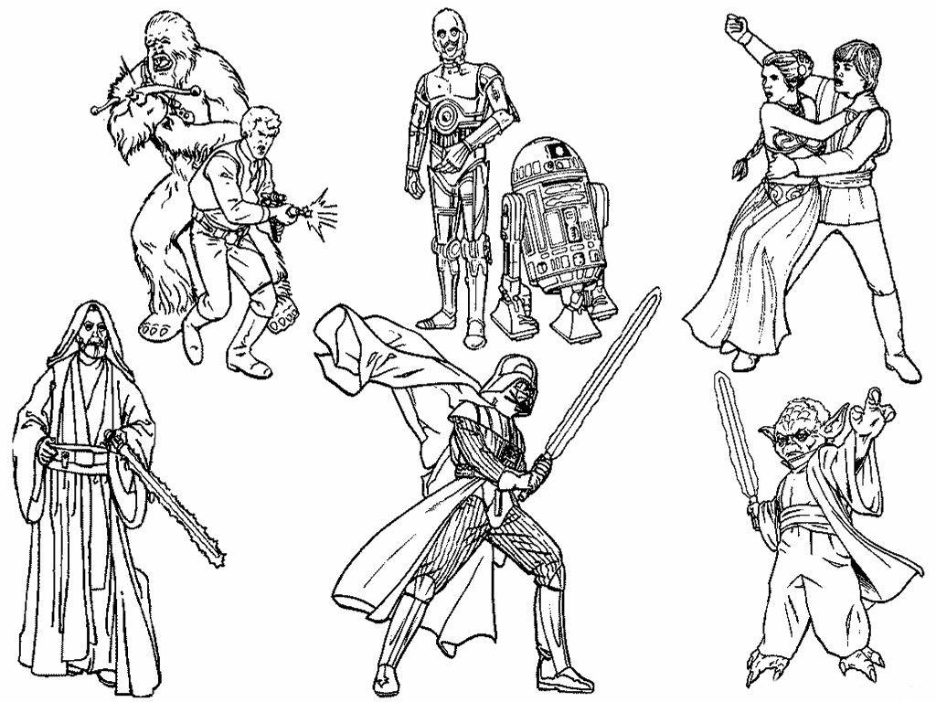 Star Wars Coloring Page Printable Star Wars Coloring Pages Star Wars ...