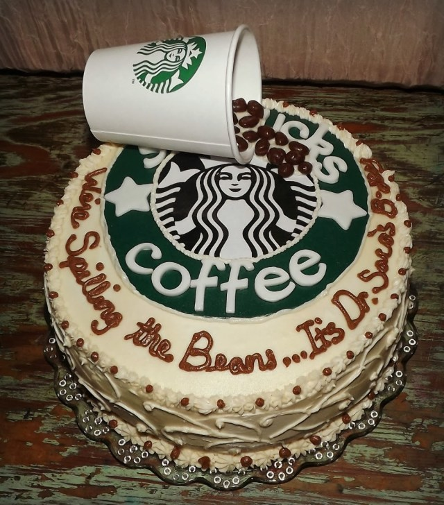 Starbucks Birthday Cake Mandys Cakes Were Spilling The Beans Starbucks Birthday Cake