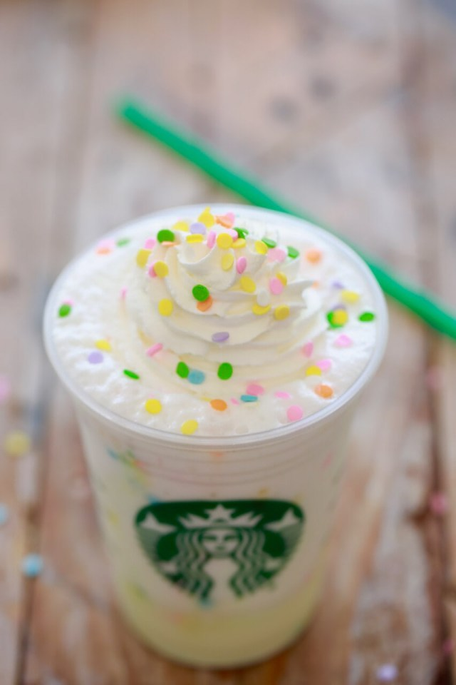 Starbucks Birthday Cake Starbucks Birthday Cake Frappuccino Starbucks Secret Menu