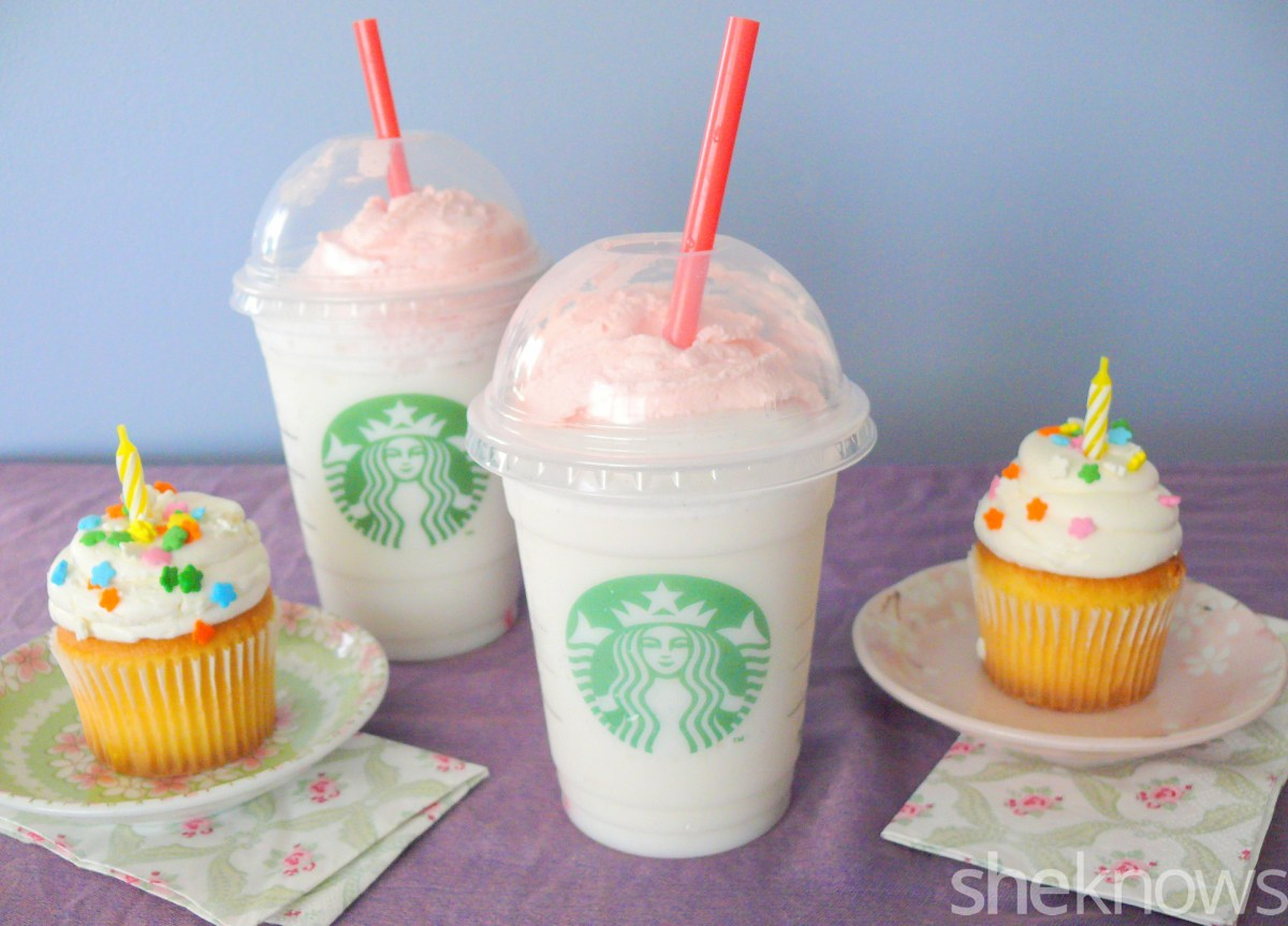Starbucks Birthday Cake Starbucks Birthday Cake Frappuccino We Tried It Is It Worth It