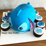 Stitch Birthday Cake 10 Stitch Tsum Cupcakes Photo Tsum Tsum Cupcakes Stitch Birthday