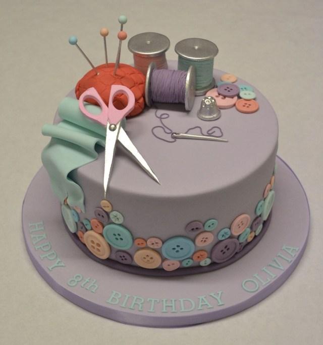 Stitch Birthday Cake Sewing And Needlework Cake Cakes Cake Birthday Cake Sewing Cake