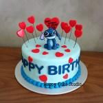 Stitch Birthday Cake Stitch Hearts Cake For Chiu Yen Happy Cake Studio