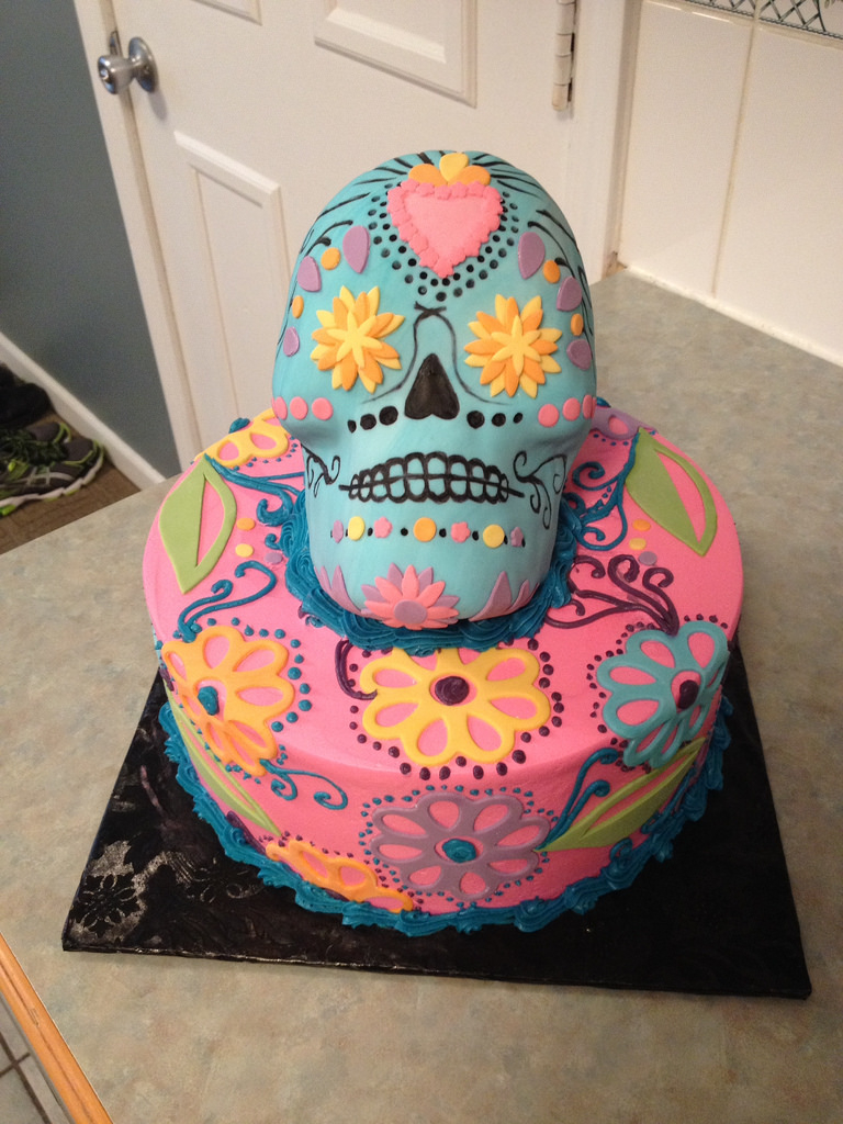 Sugar Skull Birthday Cake 3d Sugar Skull Birthday Cake Grace Ful Cakes Flickr