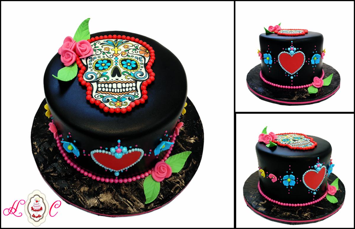 Sugar Skull Birthday Cake Download Abc Cakes