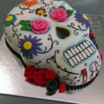 Sugar Skull Birthday Cake Sugar Skull Cake Choc Fudge Cake With Fondant Handpainted