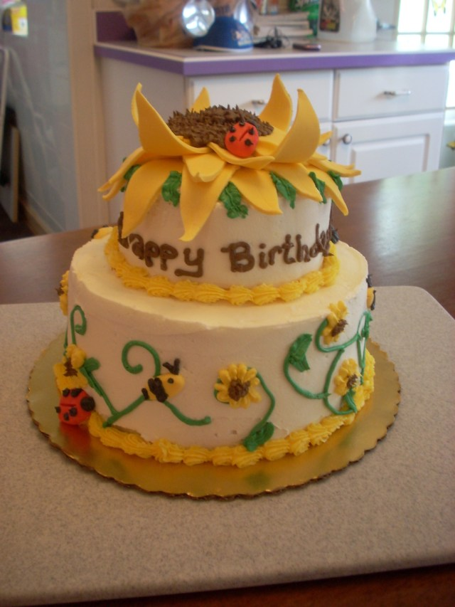 Sunflower Birthday Cake Sunflower Birthday Cake Cakecentral