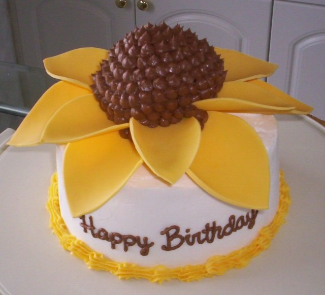 Sunflower Birthday Cake Sunflower Cake Megscakes