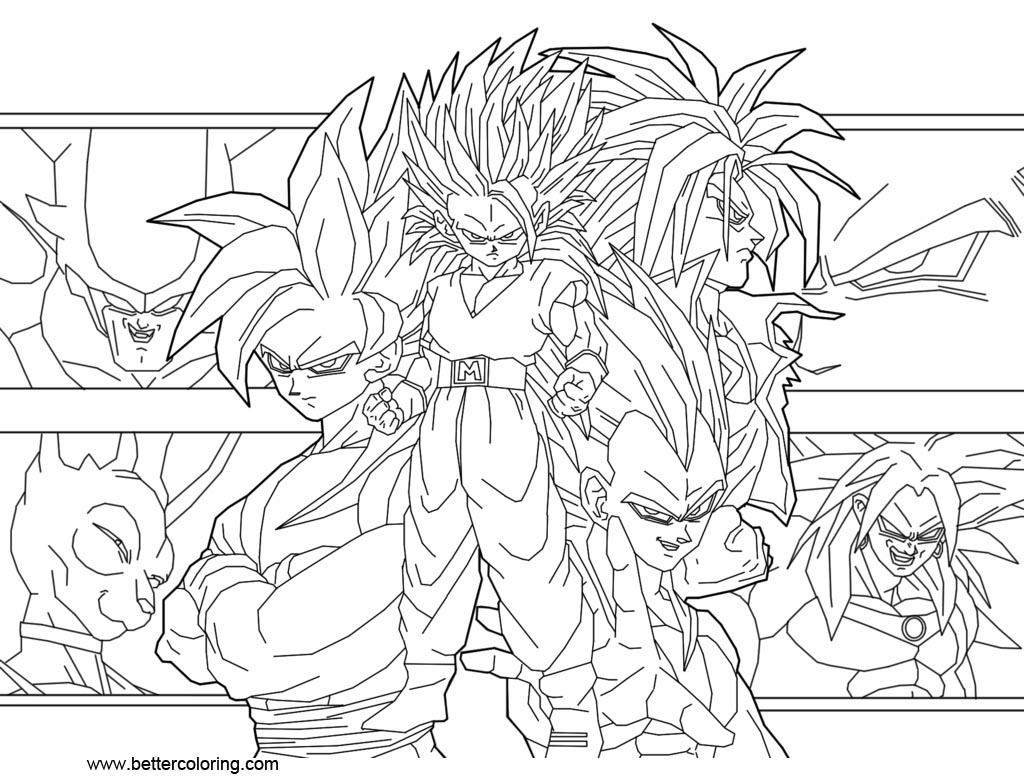 Super Coloring Pages Dragon Ball Super Coloring Pages Guitar6god