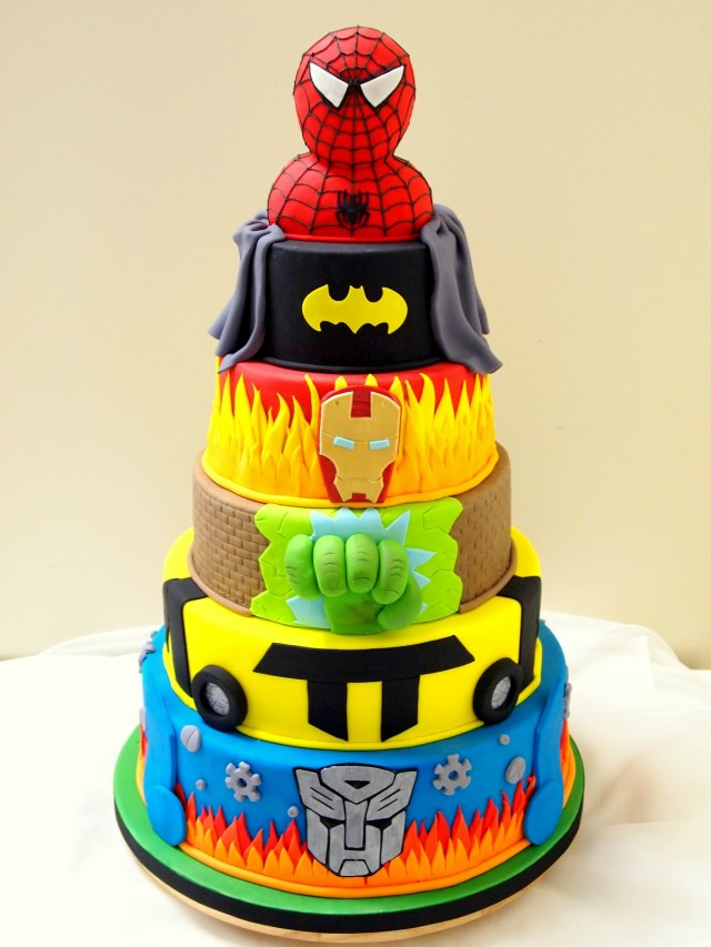 Superhero Birthday Cake 11 Super Hero Themed Cakes Photo Superhero Birthday Party Cake