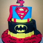 Superhero Birthday Cake Superhero Birthday Cake For A 4 Year Old Boy Superman And Batman