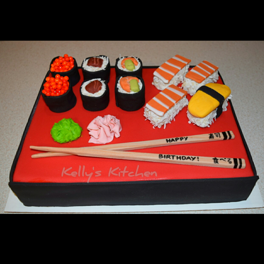 32+ Best Photo of Sushi Birthday Cake