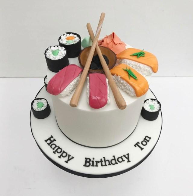 Sushi Birthday Cake Sushi Birthday Cake Sweet Beas Bakery Sweet Beas Bakery