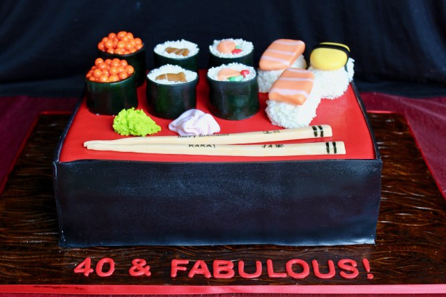 Sushi Birthday Cake Sushi Cake 40th Birthday Sushi Birthday 40th Cake Birthday