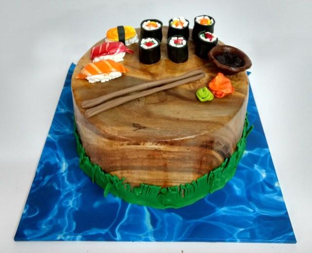 Sushi Birthday Cake Sushi Cake Kosher Cakery