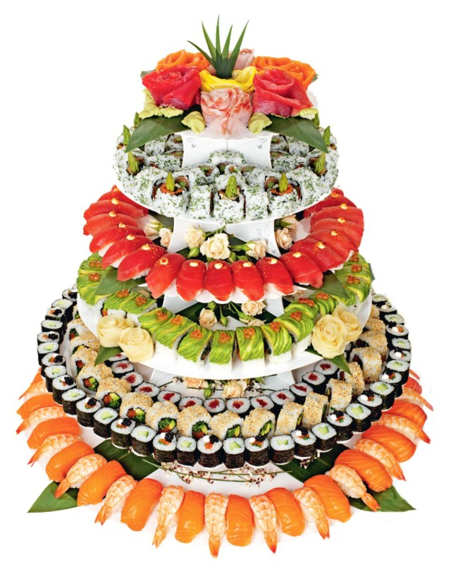 Sushi Birthday Cake Sushi Wedding Cake Who Knew It Was A Thing Romance And Wedding